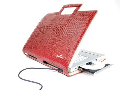 """сумка-папка для ноутбука 15 """" Sweetcover (красный крокодил)"""