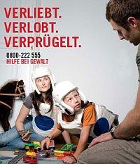 Männer als Täter - Gewalt ist männlich. Plakatserie der Frauenministerin 2008, Bildquelle: derStandard.at