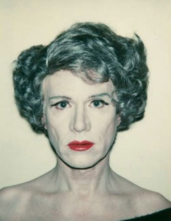 "Andy Warhol, ""Self-Portrait in Drag"" (1980)"