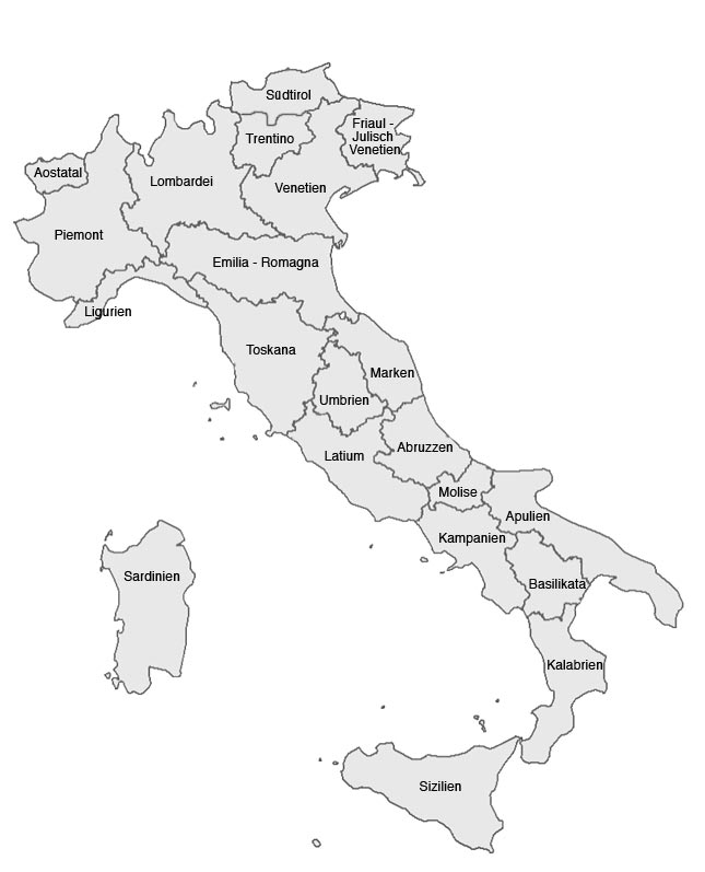 Die regionen italien urlaub lifestyle for Ferienimmobilien italien