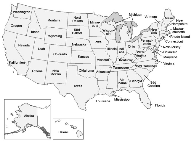 Bundesstaaten karte