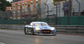 Der Aston Martin DBR9 des Jetalliance-Racing-Teams.