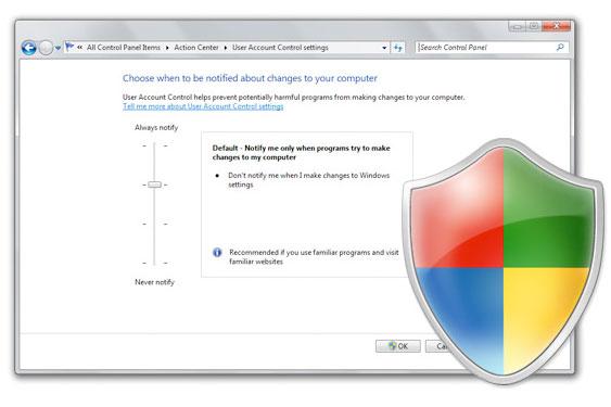 SAVJETI. Promijenite postavke UAC kontrole korisničkog računa u Windows 7