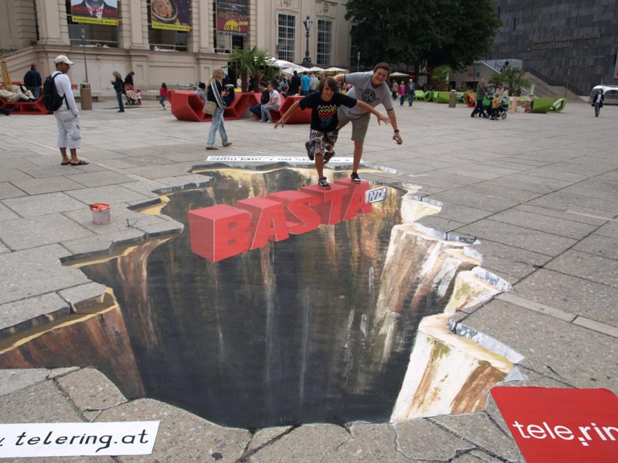 Loch im museumsquartier werbung etat for Loch im boden 3d