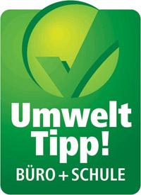 Mit diesem Symbol kennzeichnet das Umweltministerium Produkte, die seinem Kriterienkatalog entsprechen.