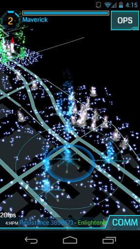 Ein Screenshot von Ingress.