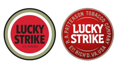 neues lucky strike logo kommt bei designern nicht gut an. Black Bedroom Furniture Sets. Home Design Ideas