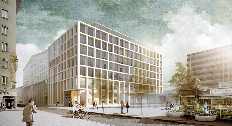 Post ag baut neue zentrale am rochusmarkt seite 1 neue - Renderings architektur ...