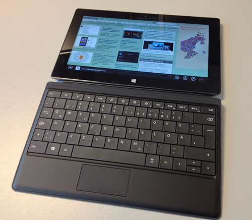 surface pro microsofts windows 8 tablet im test. Black Bedroom Furniture Sets. Home Design Ideas