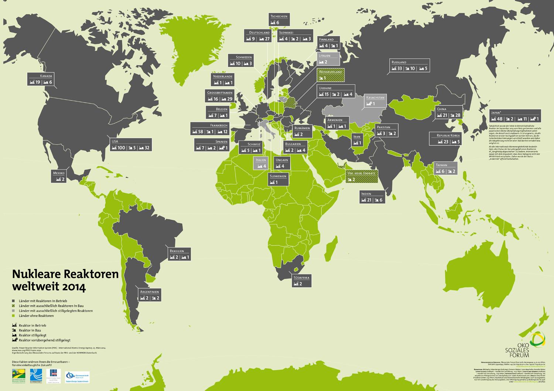 Wo auf der Welt Atomkraftwerke stehen [Seite 49] - Energiemarkt ... - Atomkraftwerke In Deutschland Karte
