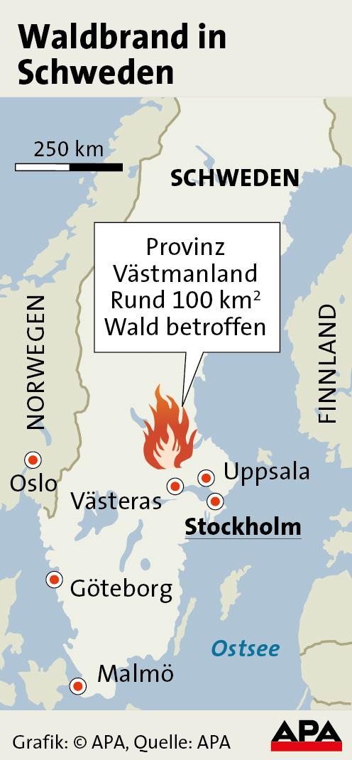 ein toter durch waldbrand in schweden naturkatastrophen. Black Bedroom Furniture Sets. Home Design Ideas