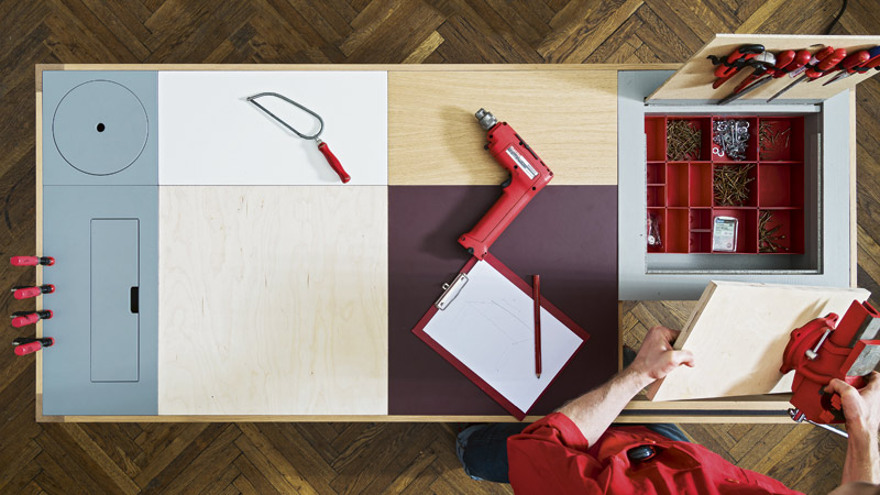 Collective desk arbeitstisch basteltisch k chentisch in for Produktdesign wien