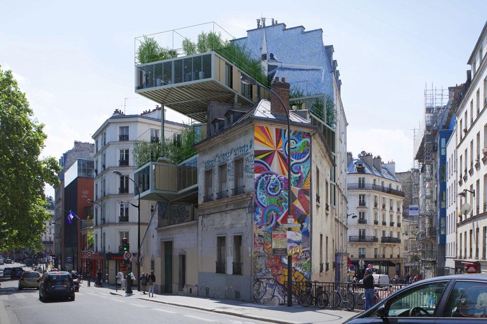 Auf pariser d chern entsteht leistbares architektur for Architecture a paris