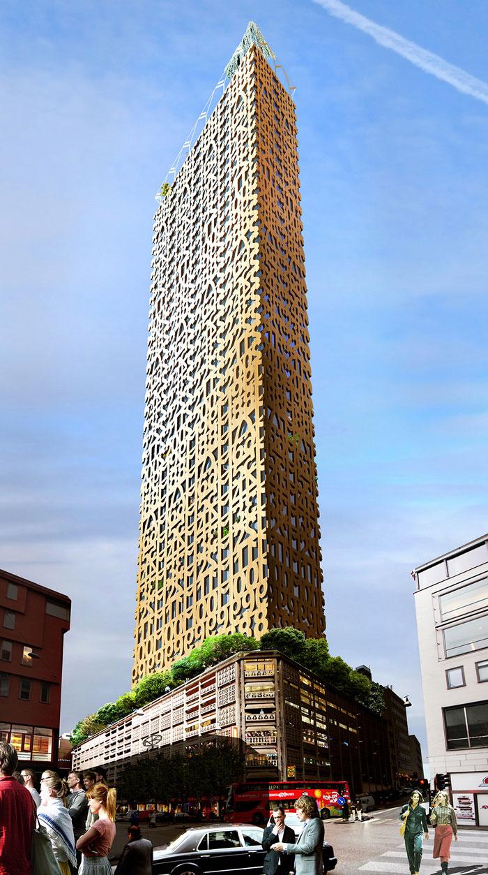 Stockholm der traum vom holzturm auf der parkgarage for Stellenanzeigen architekt