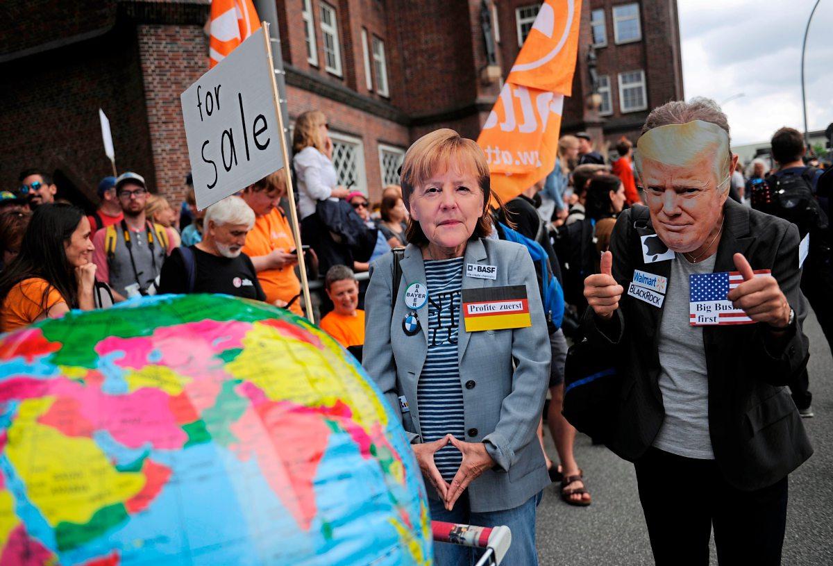 """Friedliche G-20-Demo: """"Ich marschiere gegen die Gewalt"""""""