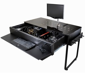 Schreibtisch futuristisch  Für 1000 Dollar: Der Gaming-PC im Schreibtisch - Gaming-Hardware ...