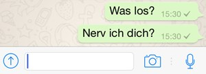 Messagingdienste wie WhatsApp machen digitalen Stress.