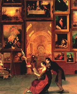 "Samuel F. B. Morse: ""Gallery of the Louvre"" (Detail), 1831-33"