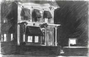 "Edward Hopper: ""Study for Rooms for Tourists"", 1945"