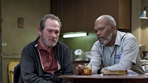 "Tommy Lee Jones und Samuel L. Jackson in ""The Sunset Limited."""