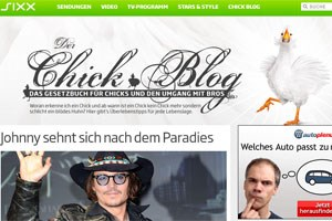 "Neu auf sixx.at: ""Chick-Blog"""