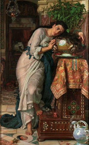 William Holman Hunt, Isabella and the Pot of Basil 1866-8, retouched 1886