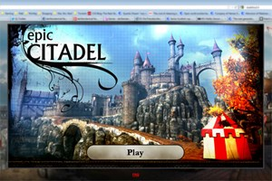 Epic Citadel im Browser.