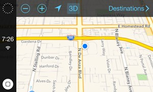 """iOS in the Car"" im Apple Maps-Modus."
