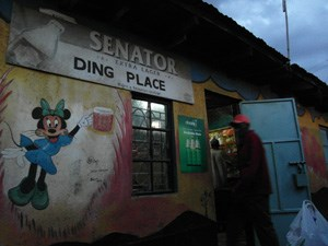 Die Ding Place Bar in Nairobi.