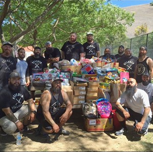 "Gruppenbild der ""Bearded Villains"" South California."