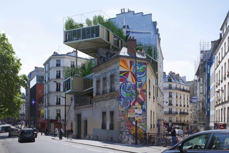 Auf Pariser Dächern entsteht Leistbares