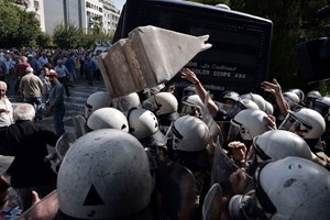 Pensionistendemo in Athen