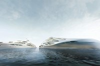 foto: unique circle yachts by zaha hadid architects for bloom+voss shipyards (visualisation moka-studio)