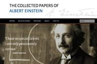 screenshot: the collected papers of albert einstein