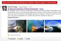 Nicht alles läuft schon vollkommen rund, von Zeit zu Zeit gibt es beim Versuch einen Kommentar zu posten noch eine Fehlermeldung. Sehr nett gemacht hingegen die Bilder-Integration.