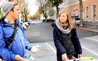 """Ingo und Lea testeten für derStandard.at die Ende September eröffnete """"fahrradfreundliche Straße"""" in Wien-Ottakring."""