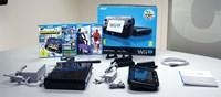 """Das Basic Pack für 299 Euro kommt mit 8 GB Speicher und Gamepad, das Premium Pack für 349 Euro mit 32 GB Speicher, Gamepad, Wii Sensorleiste, Ladestation und """"Nintendo Land"""" bietet das bessere Preis/Leistungs-Verhältnis."""