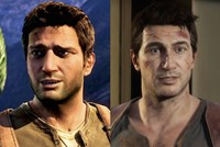 "Zweimal Nathan Drake: links in ""Uncharted 2"" (remastered für PS4), rechts in ""Uncharted 4"" (PS4)"