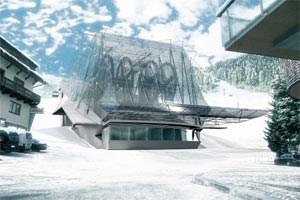 Ein wildes Reptil aus Stahl und Glas: Talstation der Galzigbahn auf dem Arlberg. (Bild: Siemens)Mehr Bilder:www.galzigbahn.at