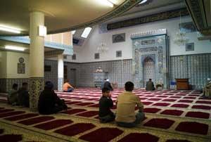 Gebetsraum der Moschee in der Pelzgasse im 15. Bezirk.