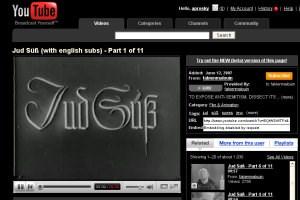 Antisemitische Hetze auf YouTube