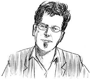 Franzobel jongliert gerne Wörter und entdeckt in Internet-Foren frisches Spielmaterial.  (Zeichnung: Ander Pecher)