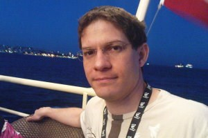 Mono and Moonlight development lead, Miguel de Icaza, at a boat trip during this years GUADEC