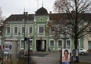 Das Rathaus in Ziersdorf.