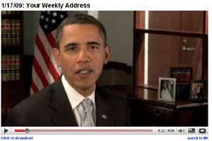 Offizielle Videos von Obama können bereits von YouTube heruntergeladen werden.