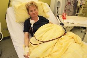 Gabriele Brabec geht seit ihrem 17. Lebensjahr zur Dialyse