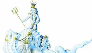 """Poseidon wird Schirmherr des Wiener Rathausplatzes: Der Life Ball stehtheuer unter dem Thema """"Wasser"""" - verwässert soll seine Botschaft abernicht werden."""