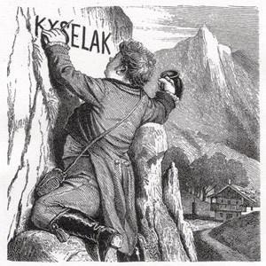 Emile Mario Vacano, Artist, Kunstreiter und Schriftsteller aus Österreich, schrieb in Vogl's Volkskalender 1886 einen Aufsatz über Kyselak. Dazu erschienen fünf Illustrationen, die auch in dem vorliegenden Buch abgedruckt sind.