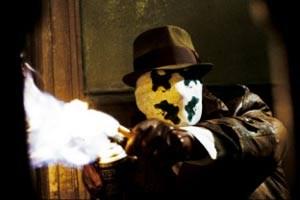Rorschach, Figur aus Watchmen, mit der namensgebenden Maske