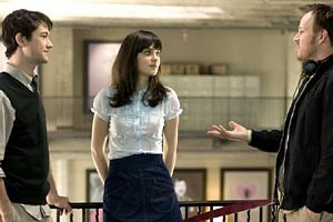 "Marc Webb (re.) am Set seiner schrägen Romantic Comedy ""(500) Days of Summer"""